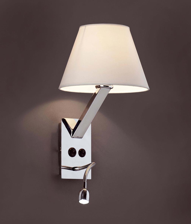 Aplique con lector LED blanco MOMA detalle