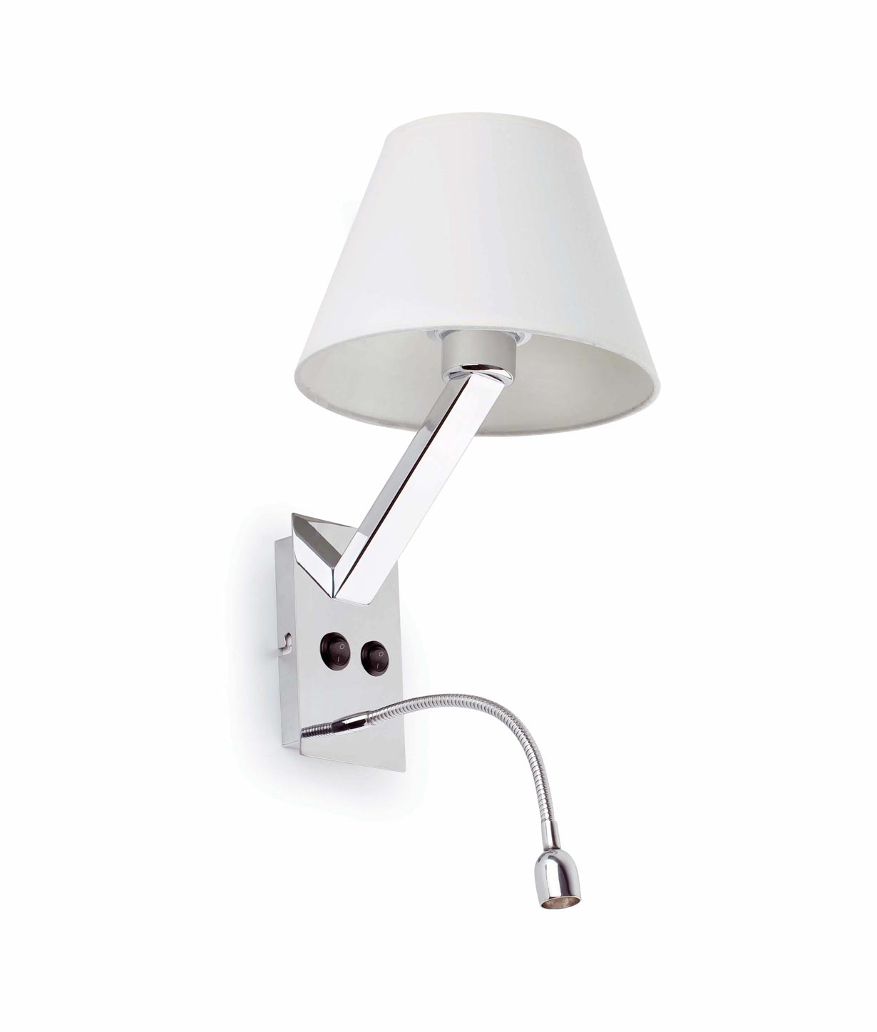Aplique con lector LED blanco MOMA