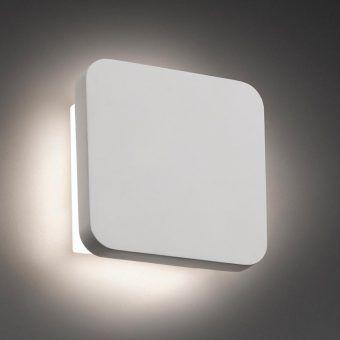 Aplique de pared LED ELSA blanco