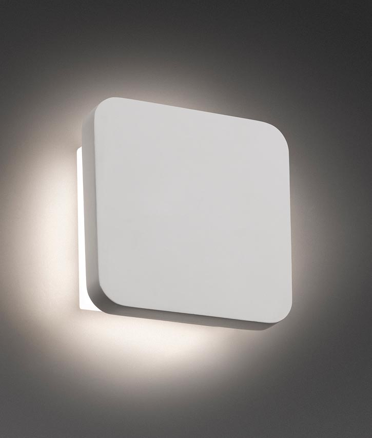 Aplique de pared LED ELSA blanco