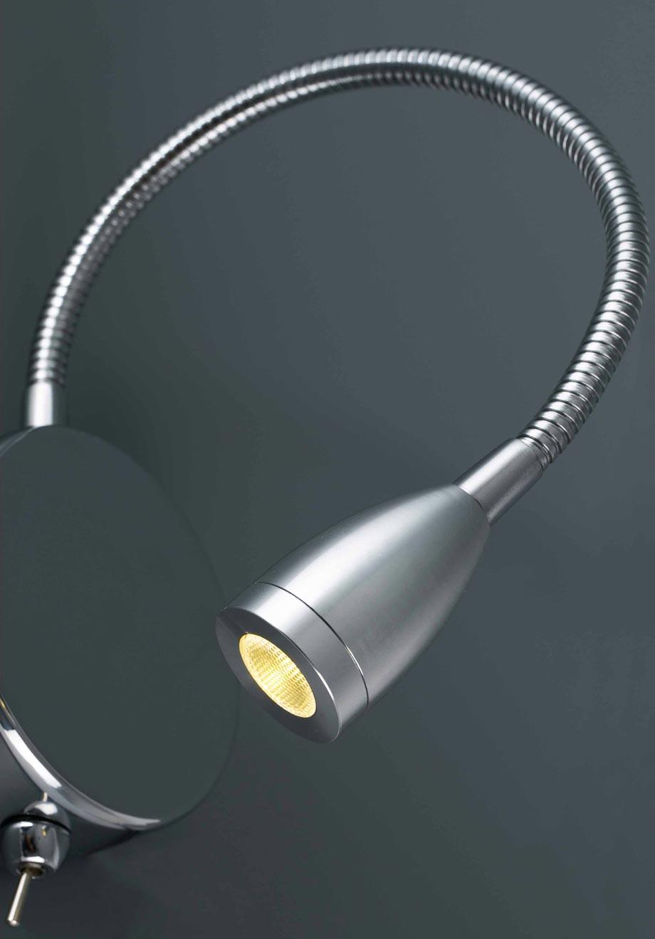 Aplique lector LED cromo LOKE detalle