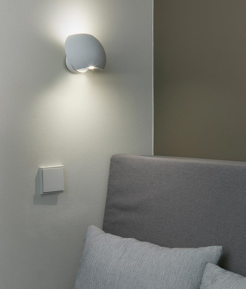 Aplique LED orientable blanco SWING ambiente