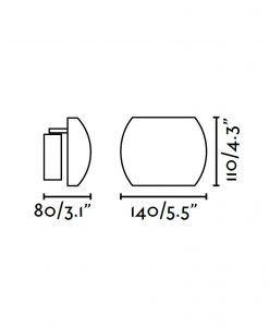 Medidas aplique LED orientable blanco SWING