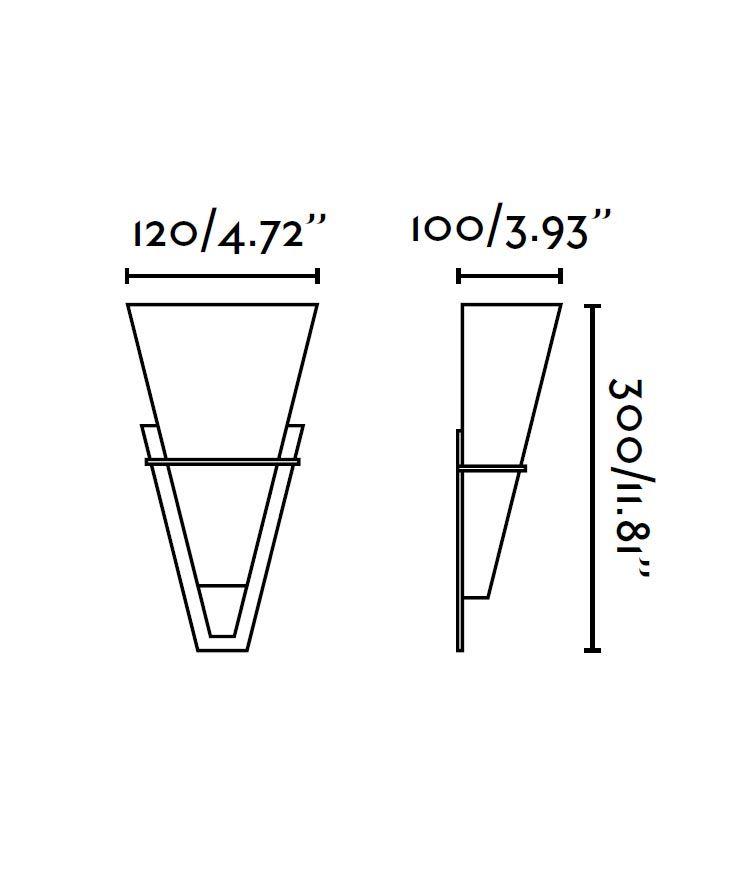 Medidas aplique marrón óxido CONO
