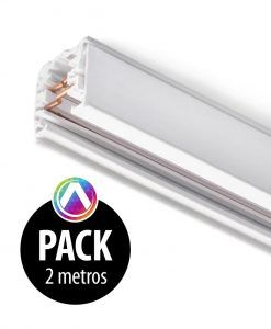 Carril blanco para proyector 2m - Pack