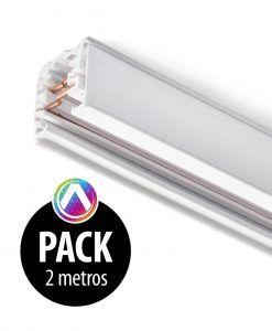 Carril blanco para proyector 2m - Pack