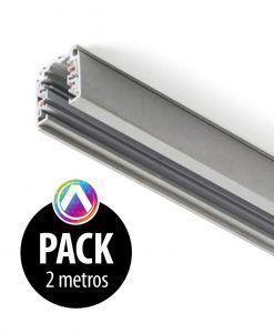 Carril gris para proyector 2m - Pack