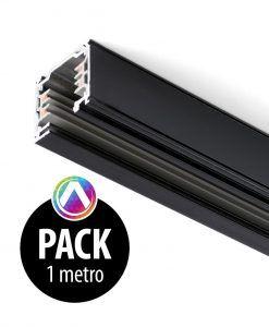Carril negro para proyector 1m - Pack