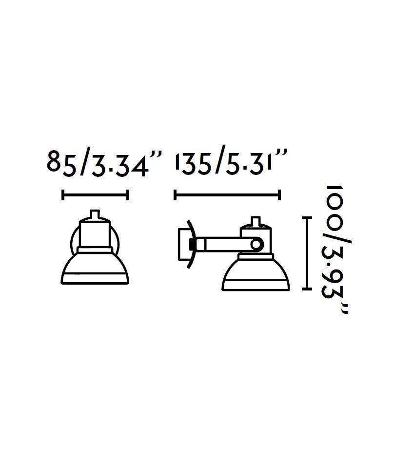 Medidas foco LED blanco RING