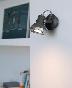 Foco LED gris RING ambiente