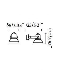 Medidas foco LED níquel mate RING