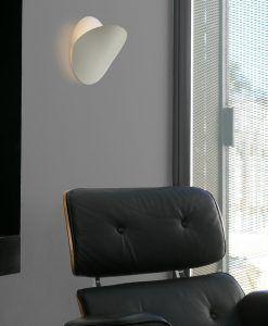 Lámpara aplique blanca grande OVO ambiente
