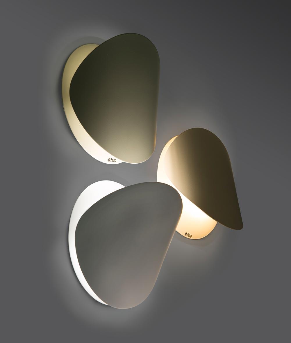 Lámpara aplique blanca pequeña OVO detalle