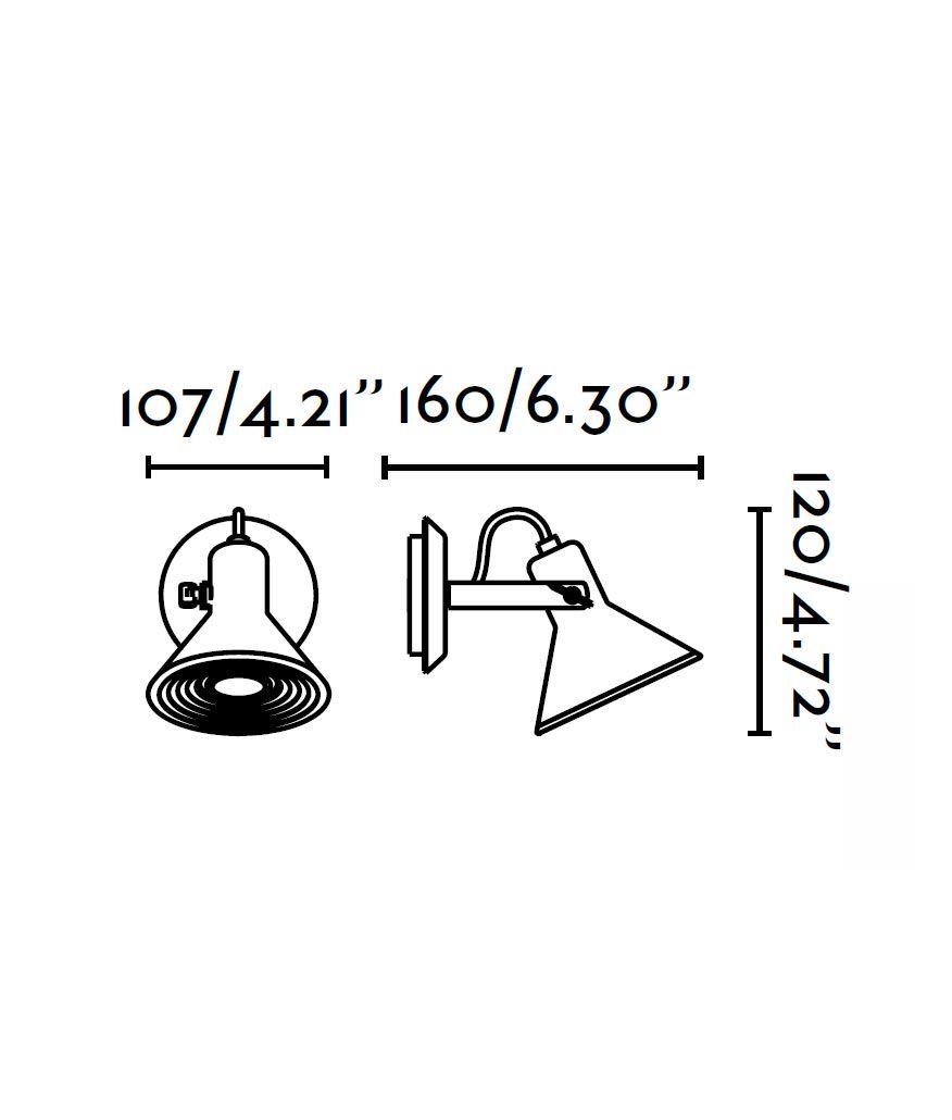 Medidas lámpara aplique cobre 1 luz CUP