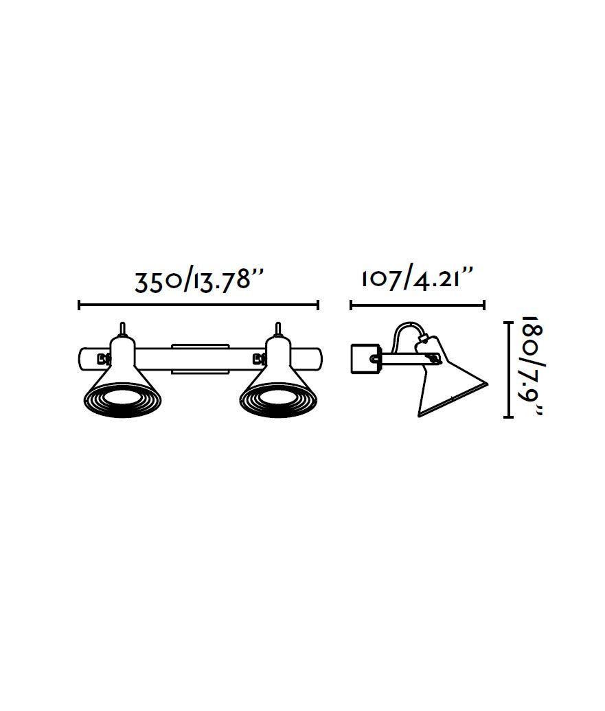 Medidas lámpara aplique cobre 2 luces CUP