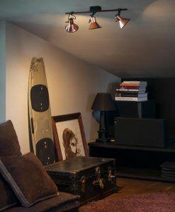 Lámpara aplique cobre 3 luces CUP ambiente