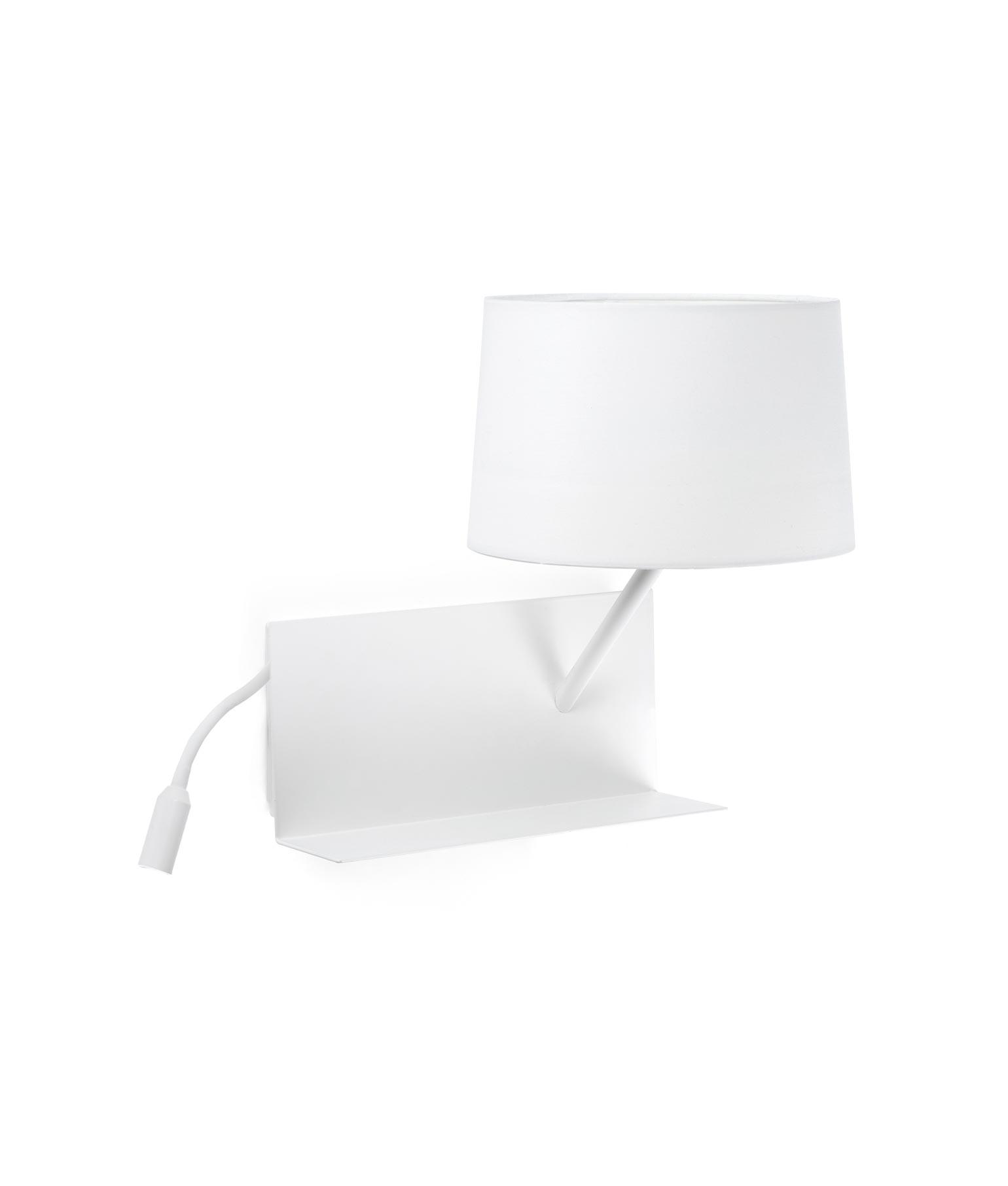 Lámpara aplique con lector LED derecha HANDY blanca