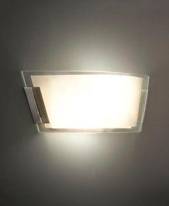 Lámpara aplique níquel mate TWIN-2 detalle