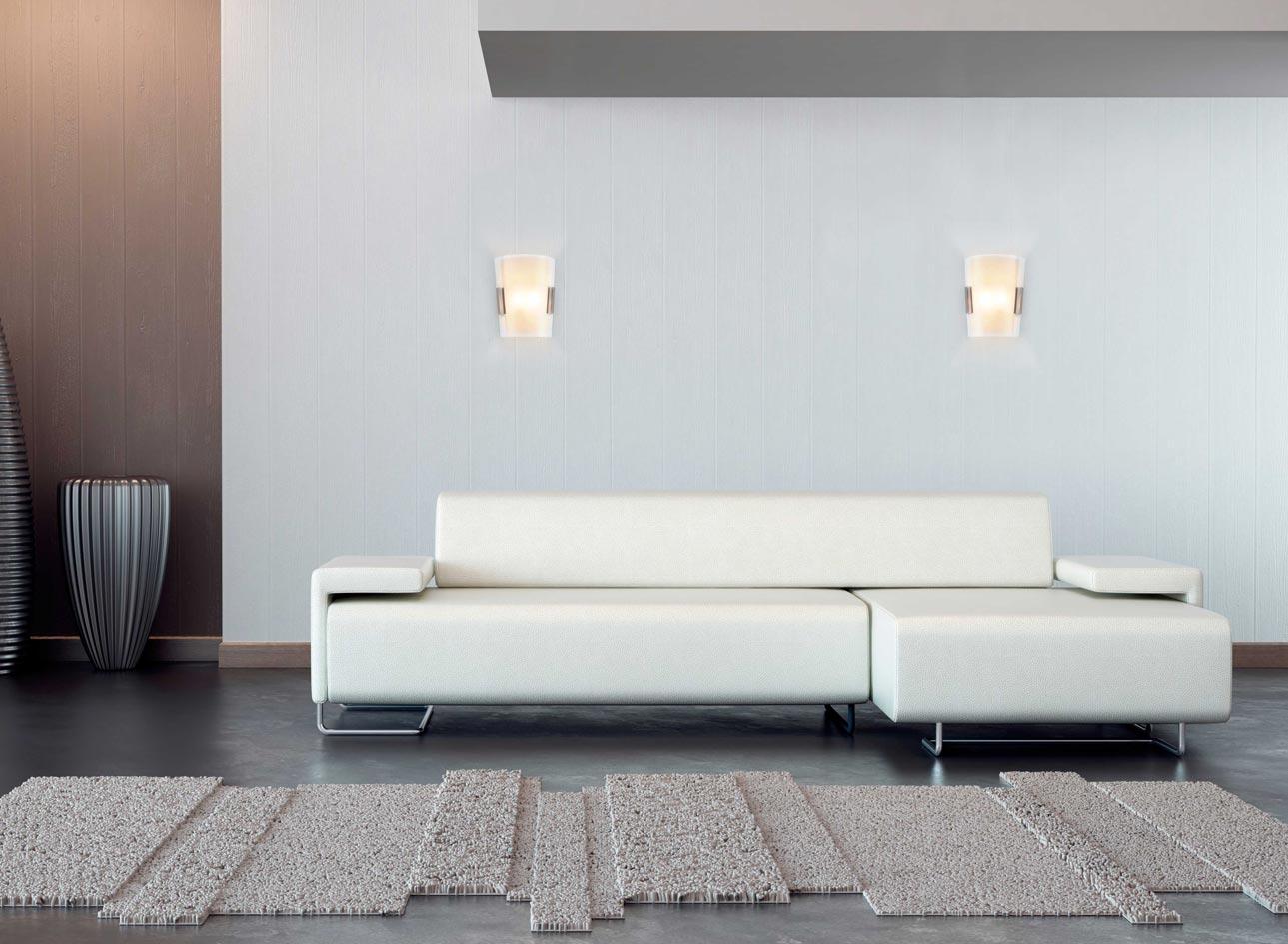 Lámpara aplique níquel mate TWIN-3 ambiente