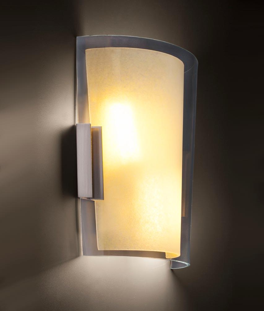 Lámpara aplique níquel mate TWIN-3 detalle 2