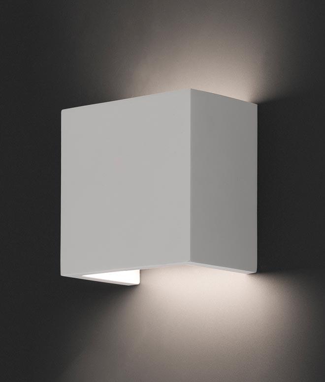 Lámpara aplique OSLO blanco detalle