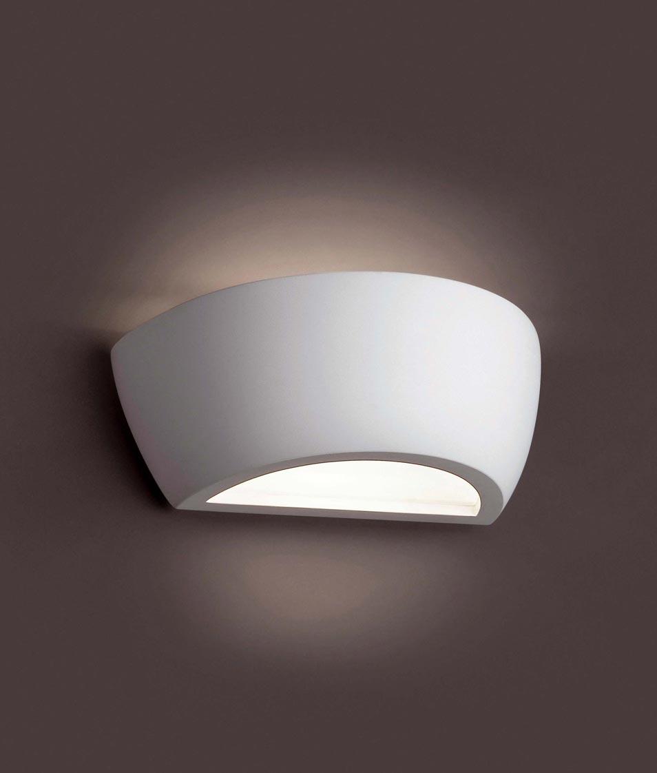 Lámpara aplique yeso CHERAS-2 blanco