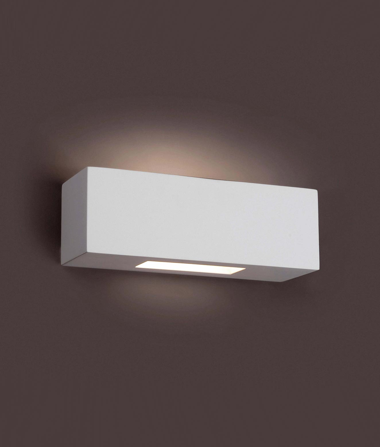 Lámpara aplique yeso CHERAS-3 blanco