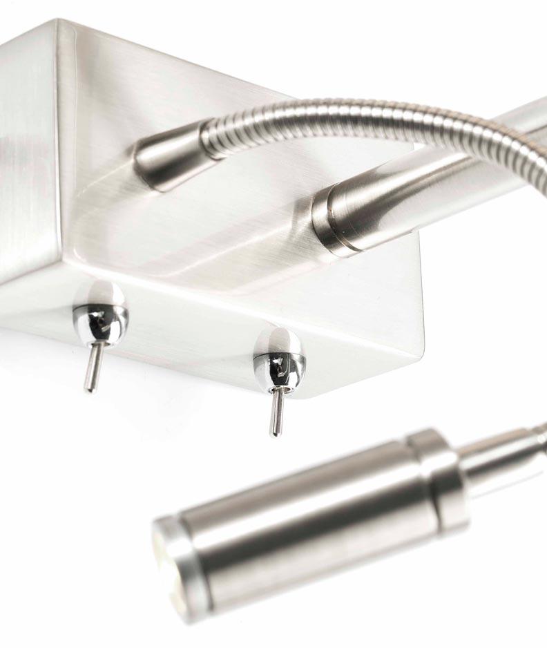 Lámpara con lector LED derecha SABANA detalle