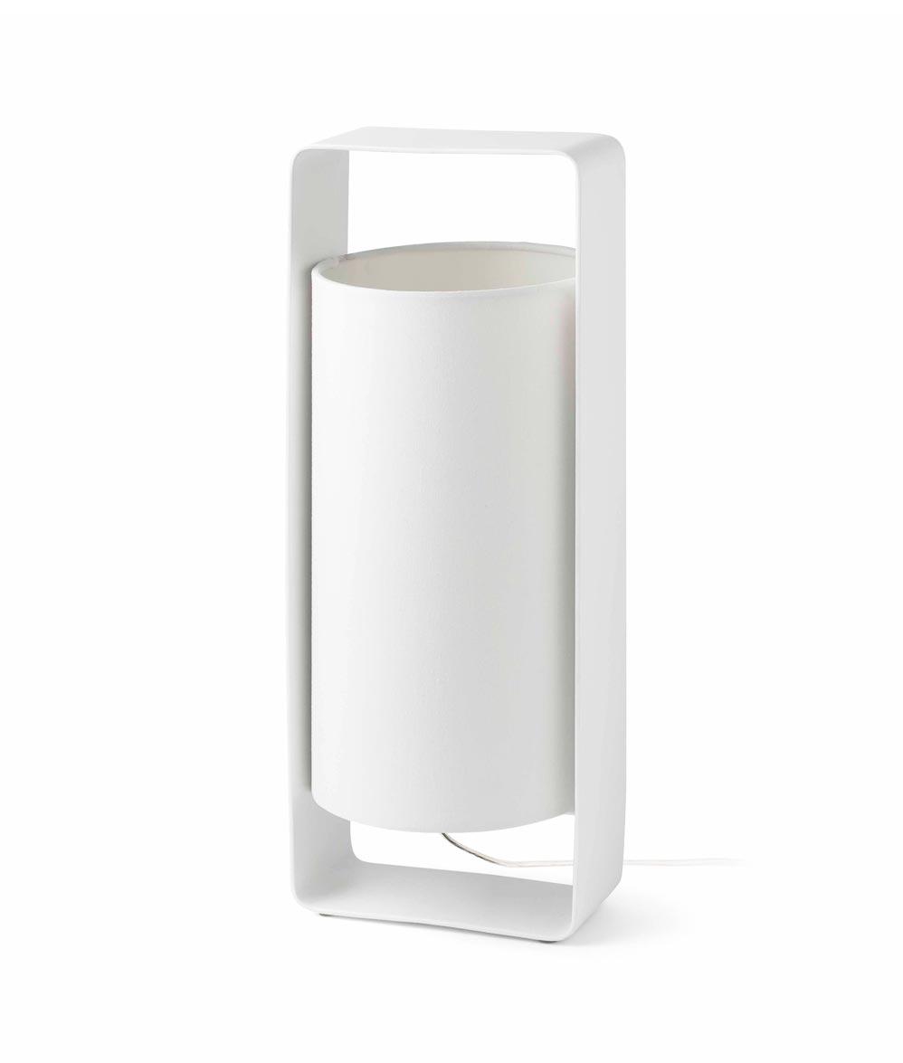 Lámpara de mesa blanca grande LULA