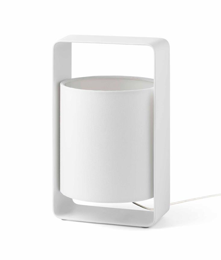 Lámpara de mesa blanca pequeña LULA