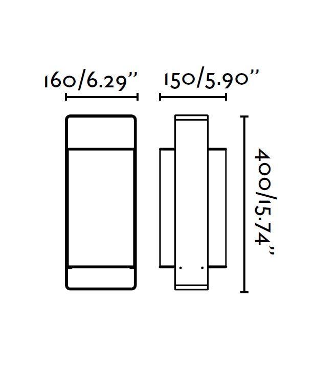 Medidas lámpara de mesa blanca y negra grande LULA