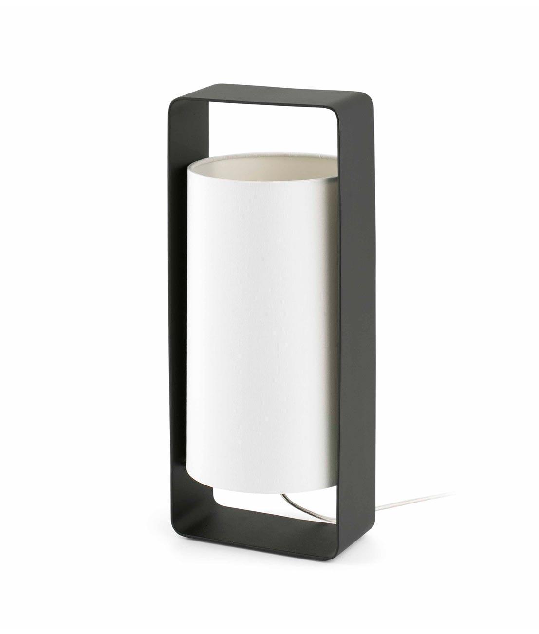 Lámpara de mesa blanca y negra grande LULA