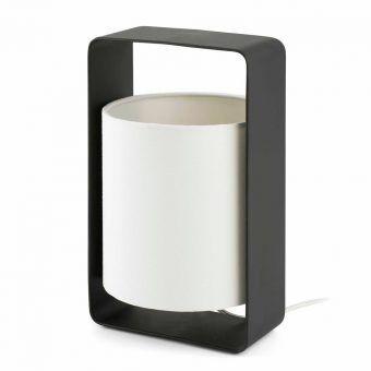 Lámpara de mesa blanca y negra pequeña LULA