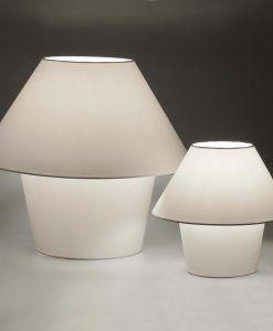 Lámpara de mesa grande VERSUS blanca detalle
