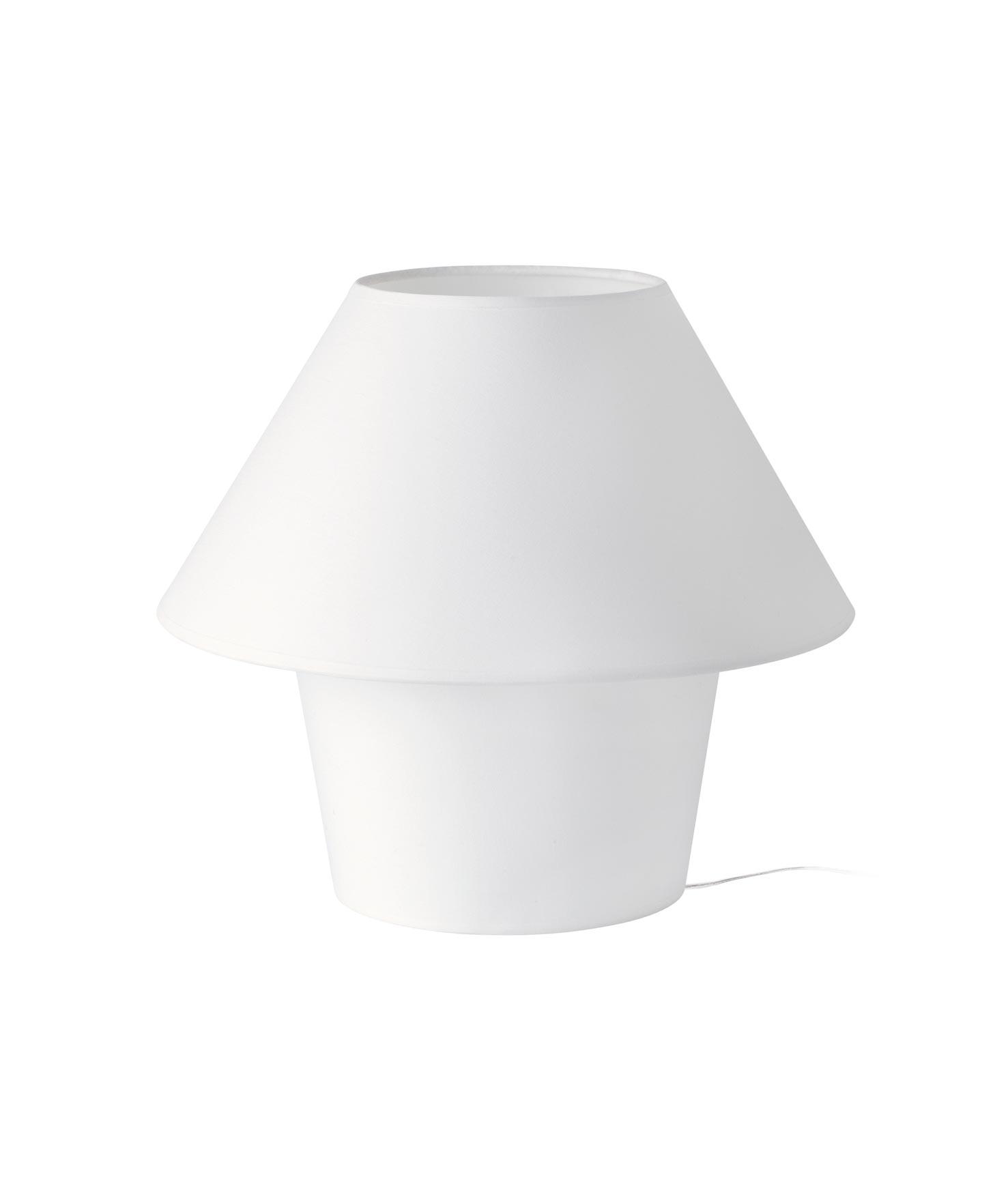 Lámpara de mesa grande VERSUS blanca