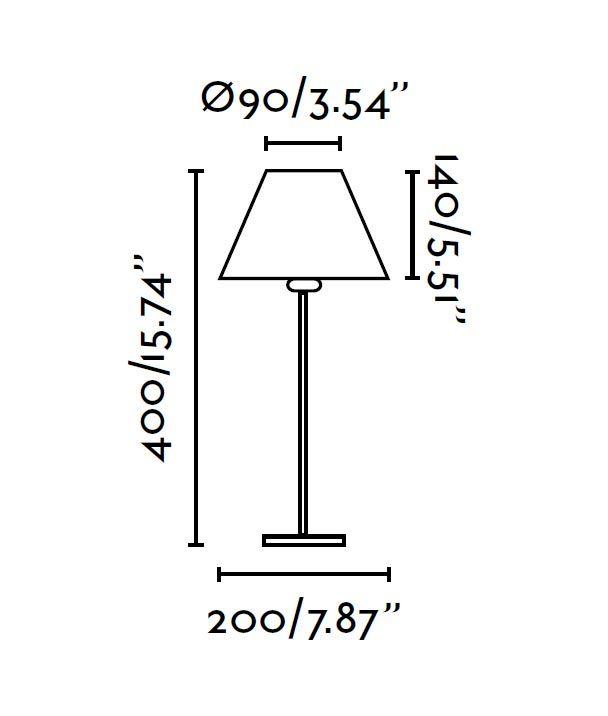 Medidas lámpara de mesa NIDIA beige