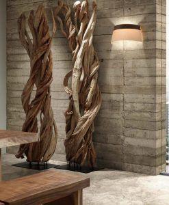 Lámpara de pared 2 luces SAC marrón y beige ambiente 2