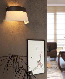 Lámpara de pared 2 luces SAC marrón y beige ambiente