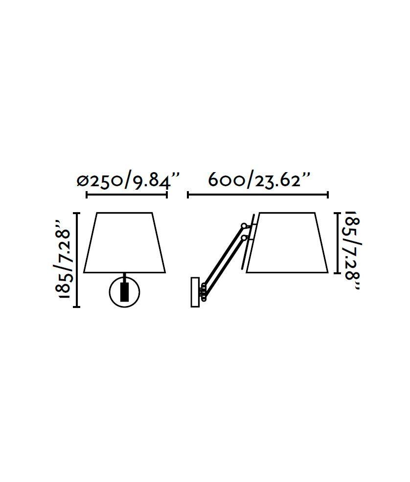 Medidas lámpara de pared cromo STELLA