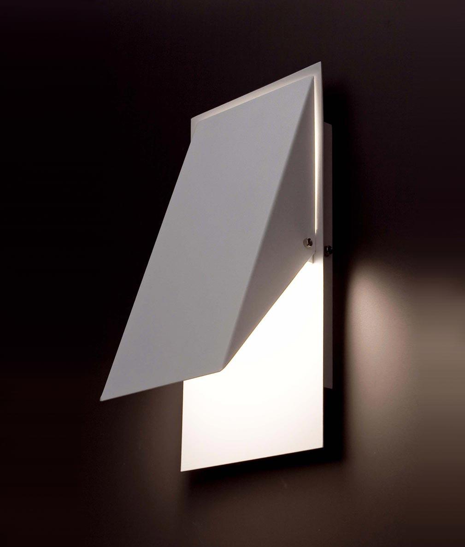 Lámpara de pared HOMS blanca detalle