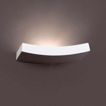 Lámpara de pared yeso EACO-3 blanco