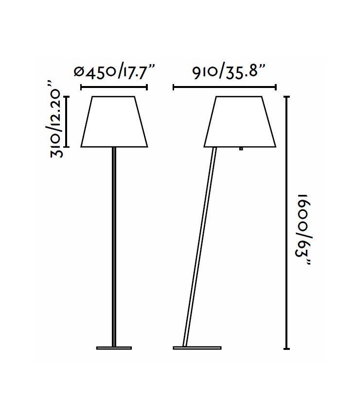 Medidas lámpara de pie blanca MOMA