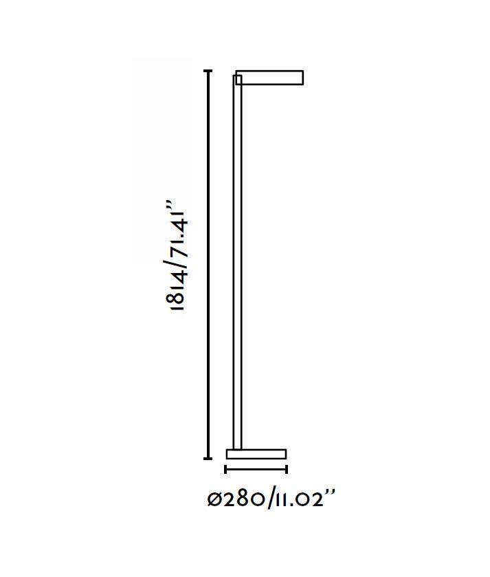 Medidas lámpara de pie blanca NEXO