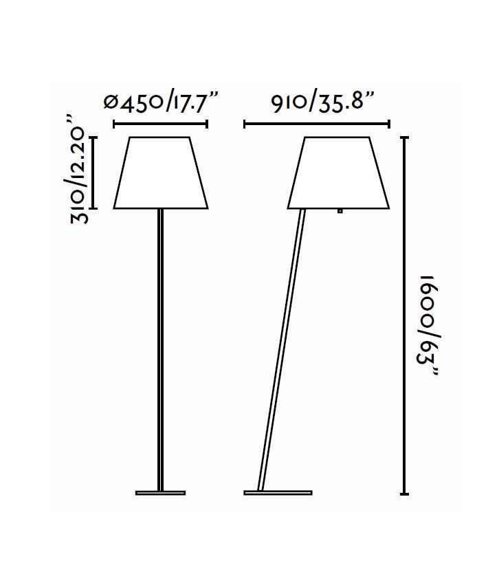 Medidas lámpara de pie negra MOMA