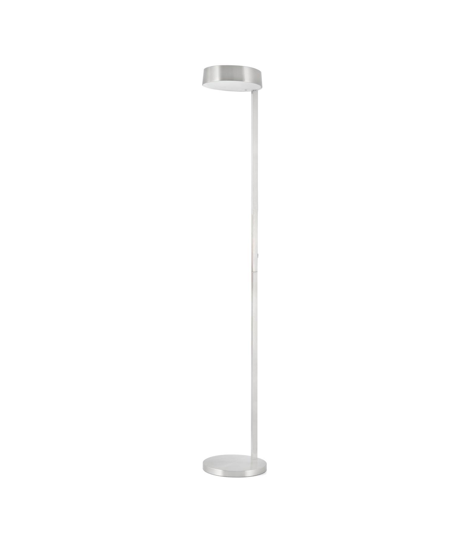 Lámpara de pie níquel satinado NEXO