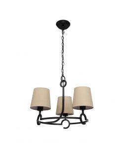 Lámpara de techo 3 luces ARGI circular