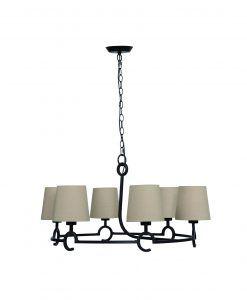 Lámpara de techo 6 luces ARGI circular
