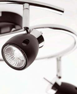 Lámpara de techo negra MIKA 3 luces detalle