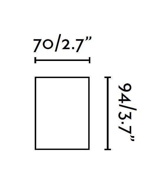 Medidas lámpara foco 94 mm SQUAD blanco