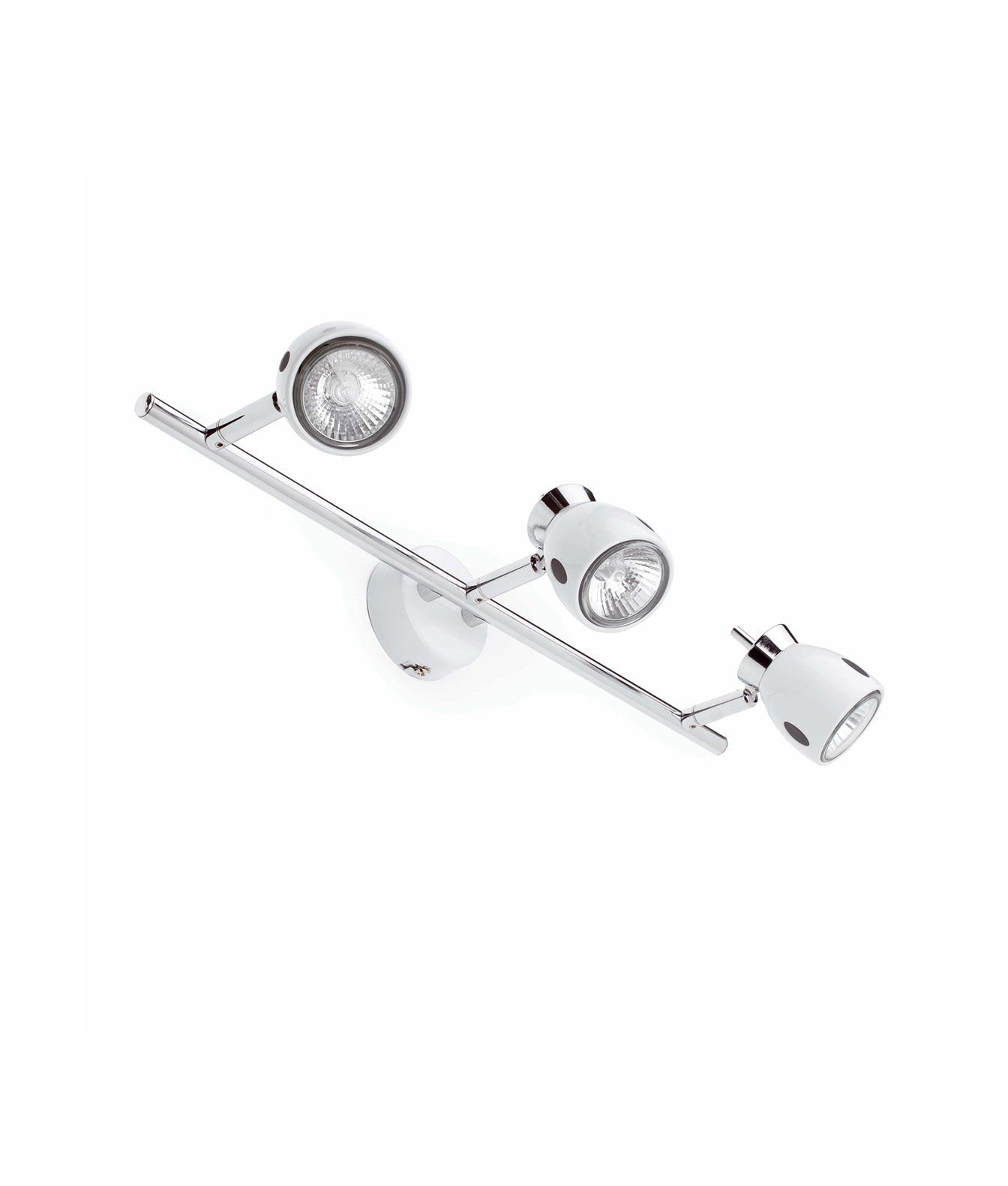 Lámpara foco blanca 3 luces MIKA